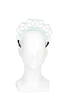 2D Perspex Headband - Emerald Green Hexagon Headband by Keely Hunter