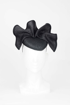 Black Wave Pillbox Fascinator from Fillies Collection