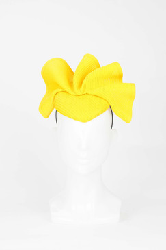 Yellow Wave Pillbox Fascinator from Fillies Collection