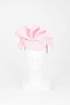 Soft Pink Wave Pillbox Fascinator from Fillies Collection