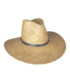 Diaz Brown Raffia Straw Fedora by Ace of Something