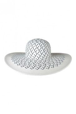 c8f9aedc3c26e White Straw   Black Straw Floppy Hat by Morgan   Taylor