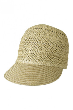 Heather Natural Straw Cap by Morgan & Taylor
