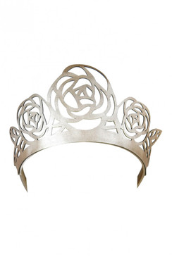 Zaylee - Gold Lasercut Rose Faux Leather Crown by Morgan & Taylor