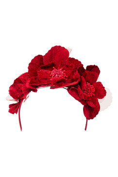 Max Alexander Red Velveteen Flower Crown