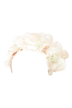 Max Alexander Pale Pink Velveteen Flower Crown