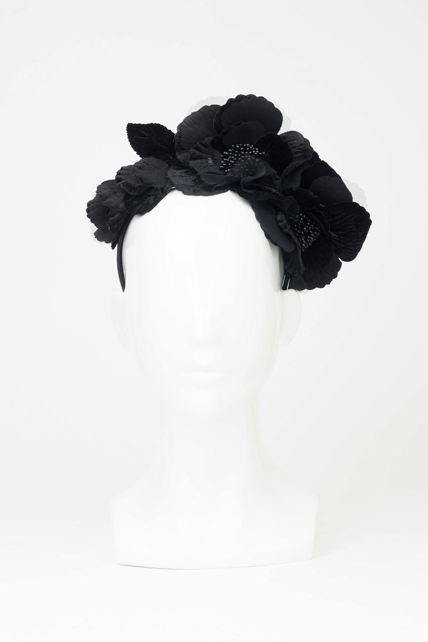 Max alexander black velveteen flower crown the eternal headonist image 1 izmirmasajfo