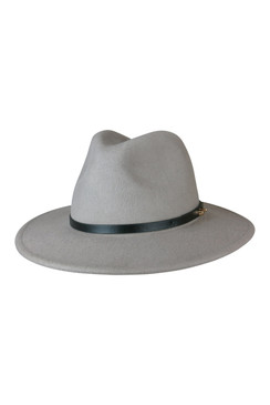Oslo - Smoke Wool Felt Fedora by Ace of Something
