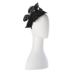 Nina - Black Lace Facehugging Crown by Olga Berg