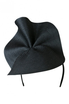 Morgan & Taylor Black Sculptural Polystraw Headpiece