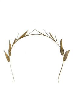 "Morgan & Taylor Gold Double Leaf Headband ""Kaira"""