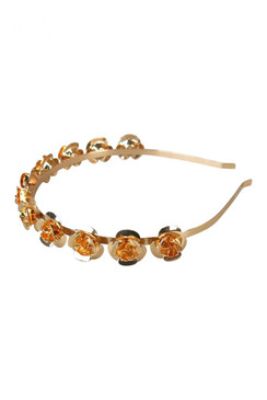 Morgan & Taylor Gold Metal Rose Headband - Harmony