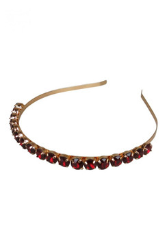 Morgan & Taylor Red Beaded Gem Headband - Juliet