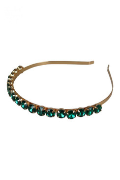 Morgan & Taylor Green Beaded Gem Headband - Juliet