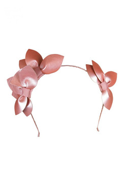 "Morgan & Taylor ""Sheridan"" Rose Gold Faux Leather Double Leaf Headband"