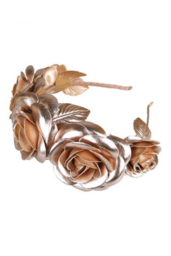Morgan & Taylor Rose Gold Faux Leather Rose Crown