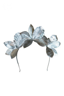 Morgan & Taylor Silver Abstract Flower Crown