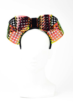 HOLOGRAM BOW - Laser-cut Holographic Bow Headpiece by Florencia Tellado