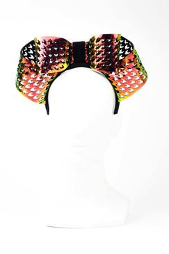 HOLOGRAM BOW - Laser-cut Holographic Bow Headpiece by Florencia Tellado
