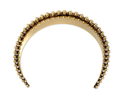 Gold Glossy Ball Chain Wide Headband by Lelet NY