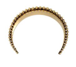 Gold Glossy Ball Chain Wide Headband by Lelet NY