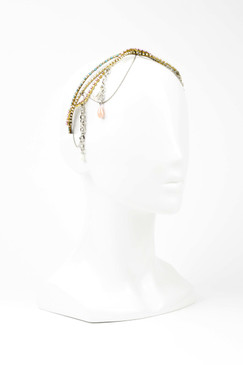 HYERES - Swarovski Crystal Crown with Chains and Pearls by Ann Shoebridge Milliner