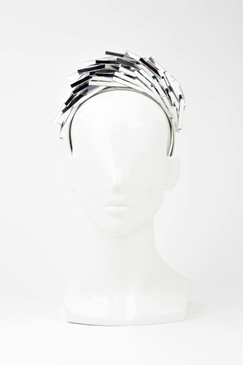 Silver Mirror Headband by Ana Bella Millinery
