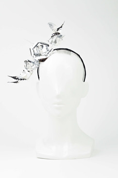 Silver Flower Vine Headband by Ana Bella Millinery