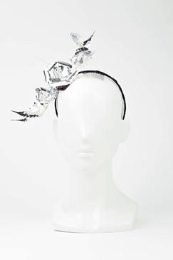 Silver Flower Vine Headband by Ana Bella Millinery