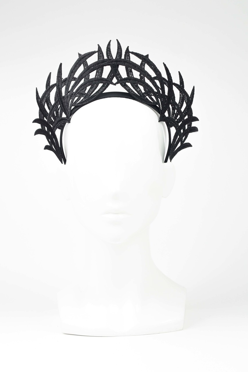 Max Alexander Lace Crown Fascinator Black. Price   105.58. Image 1 2ccd24fb7f4