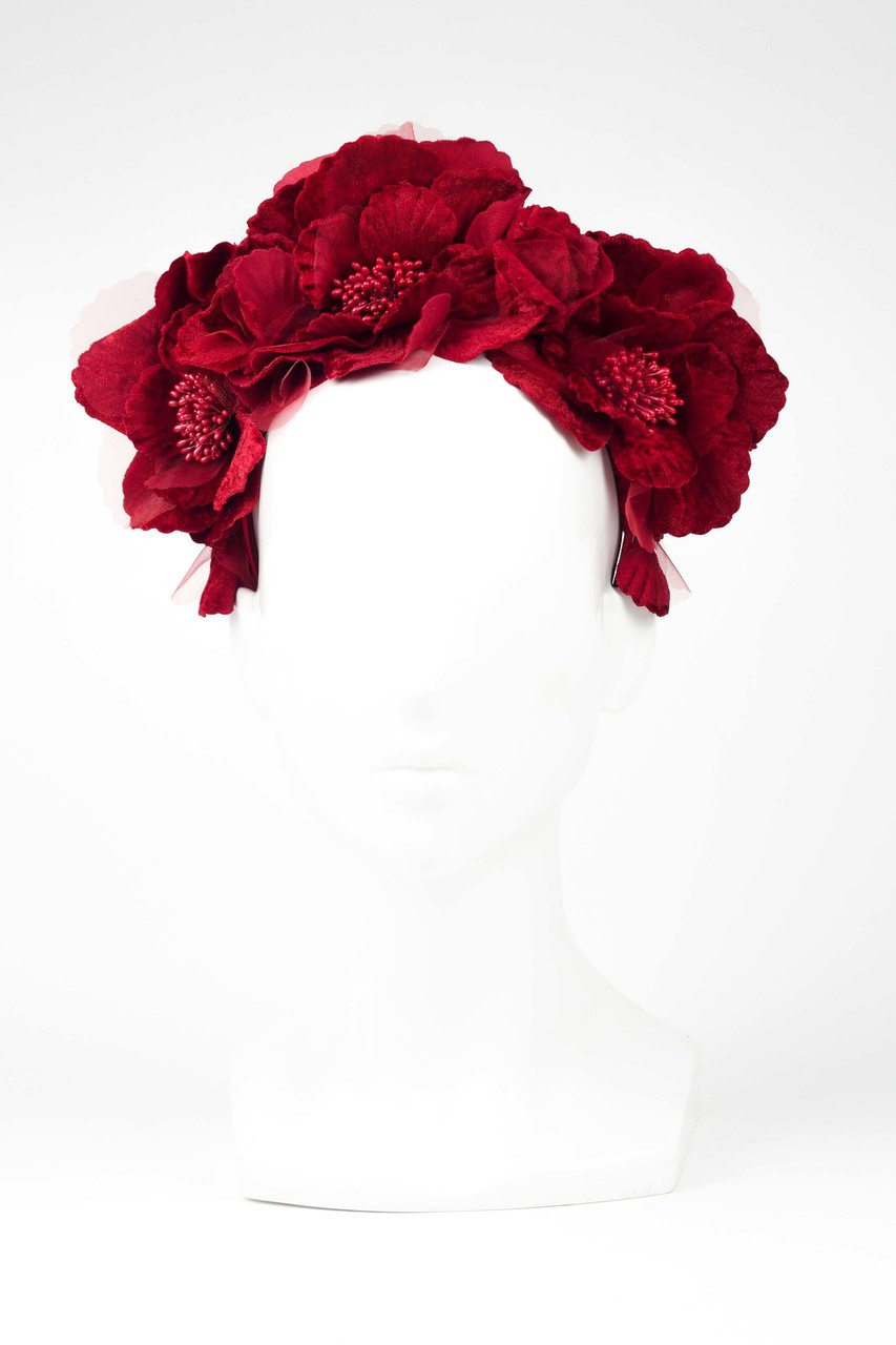 Red Flower Halo By Fillies Collection The Eternal Headonist