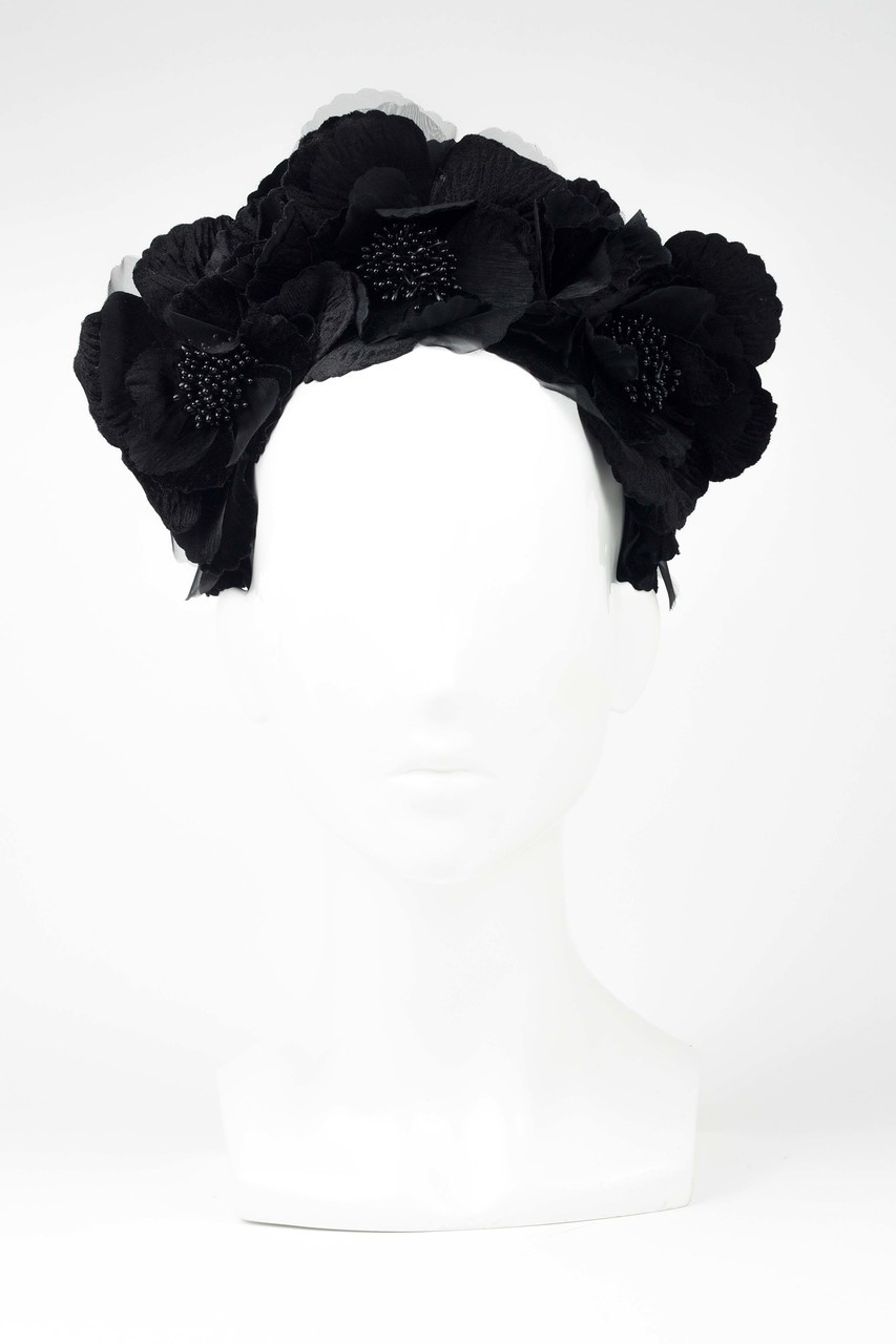 Black Flower Halo By Fillies Collection The Eternal Headonist