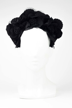 Black Flower Halo by Fillies Collection