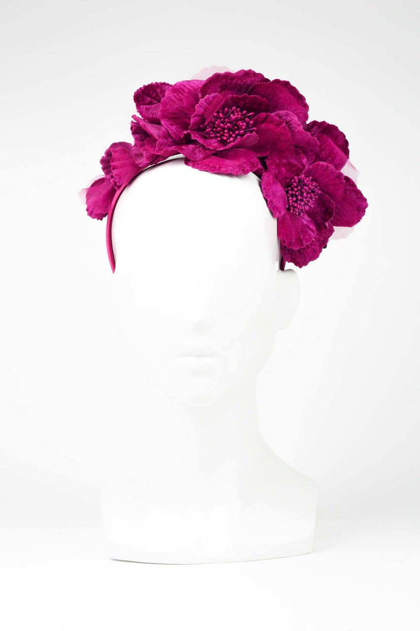 Max Alexander Flowers Fascinator Fuchsia - The Eternal Headonist a9df2e36b07