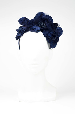 Max Alexander Flowers Fascinator Navy