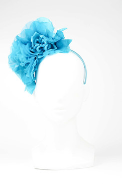 Max Alexander Silk Flower Crown Turqouise