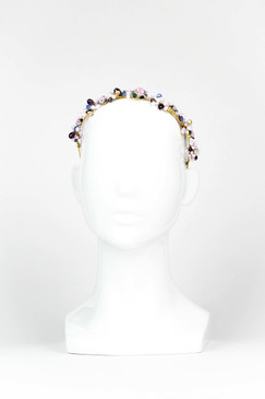 NADIA - Bead and Wire Floral Headband by Ford Millinery