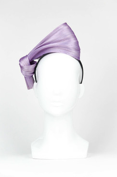 SILKS - Lilac Silk Abaca Headpiece by Ford Millinery