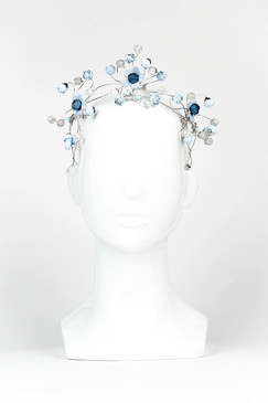 BLUEBIRD - Blue Abstract Floral Crown by Ford Millinery