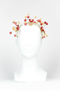 BLUEBIRD - Red Abstract Floral Crown by Ford Millinery