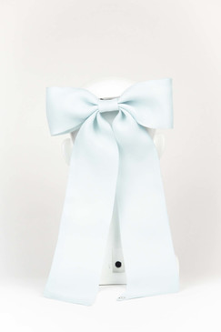 Pale Blue Silk Gazar Bow by Angela Menz