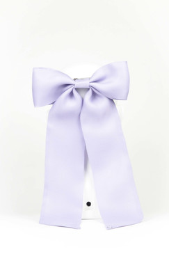 Lilac Silk Gazar Bow by Angela Menz