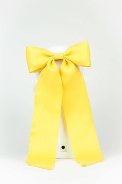 Yellow Silk Gazar Bow by Angela Menz