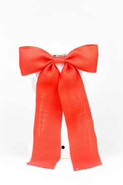Red Silk Gazar Bow by Angela Menz