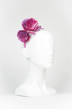 Purple and Pink Acrylic Rose Headband by Angela Menz
