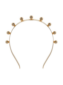 Wonderland - Gold Ball Headband by Suzy O'Rourke x Joomi Lim