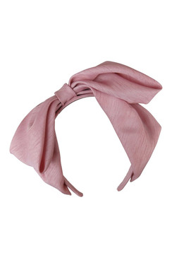 Arianna - Pale Pink Satin Bow Headband by Morgan & Taylor