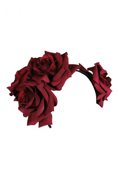 Maya - Morgan & Taylor Large Burgundy Double Rose Headband