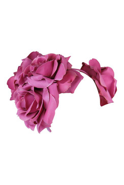 Maya - Morgan & Taylor Large Cerise Double Rose Headband