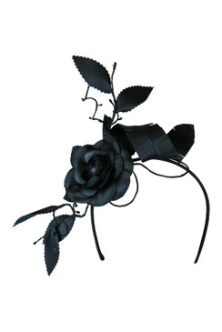 Riviera - Morgan & Taylor Black Floral Headpiece